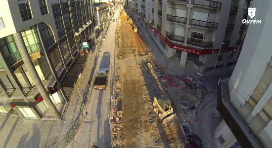Progressão das obras na Avenida D. Nuno Álvares Pereira