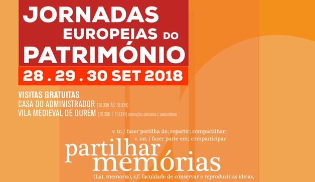 Jornadas Europeias do Património entre 28 e 30 de setembro em Ourém