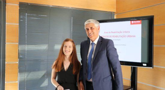 Ana Carolina Ferreira Reis recebeu Prémio Jovem Universitário de Ourém