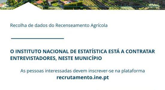 Recrutamento de Entrevistadores para Recenseamento Agrícola 2019