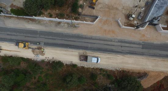 Ecovia Fátima-Ortiga em plena fase de construção