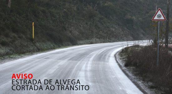 AVISO – Estrada de Alvega Cortada ao Trânsito