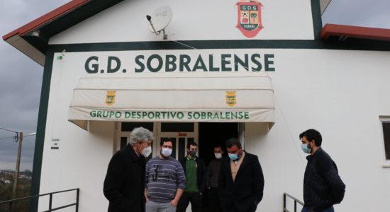 Luís Albuquerque visitou obras da sede do Sobralense
