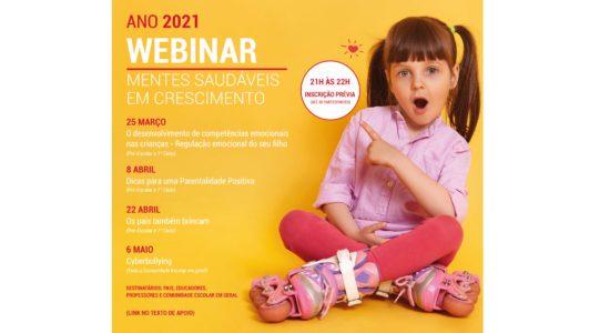 """Município promove webinars sobre """"Mentes Saudáveis em Crescimento"""""""